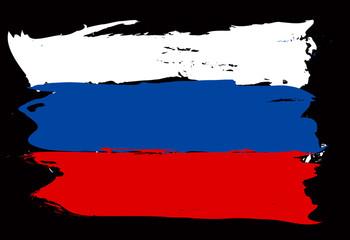 Russia grunge flag