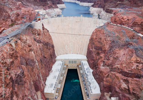 Aerial view of Hoover Dam - 28846905