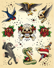 Tattoo Flash Vector Elements