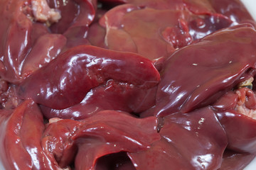 fresh  raw bird liver