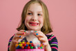 kid with gumball machine