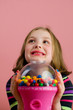 Cute Kid with Gumballs