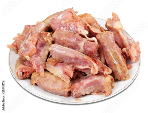 Raw fresh chicken neck