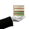 Books hand