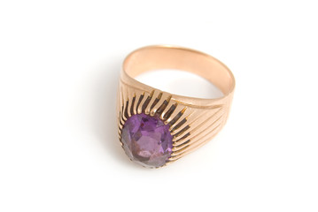 The Golden Ring with amethyst