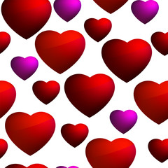 Heart seamless background pattern. EPS 8