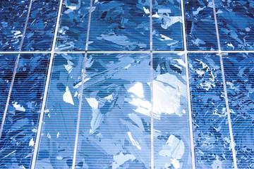 Solar panel, closeup