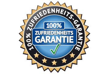 Zufriedenheits Garantie Siegel / Button