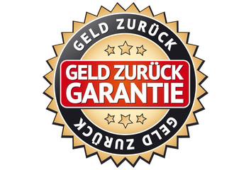 Geld zurück Garantie Siegel / Button