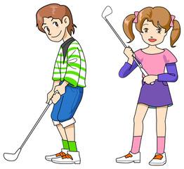 子供ゴルファー