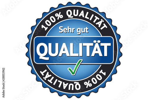 100% Qualität Siegel / Button