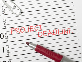 Calendar reminder, project deadline