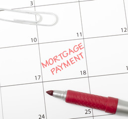 Calendar reminder, mortgage payment