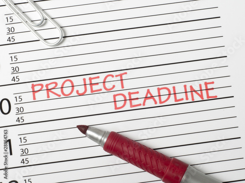 Calendar reminder, project deadline