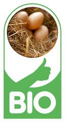 Bio œufs poule ferme alimentation sain santé alimentaire