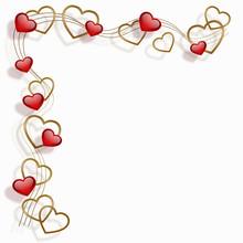 Ramki złote serce