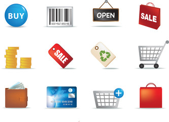 shopping aand retail icon set