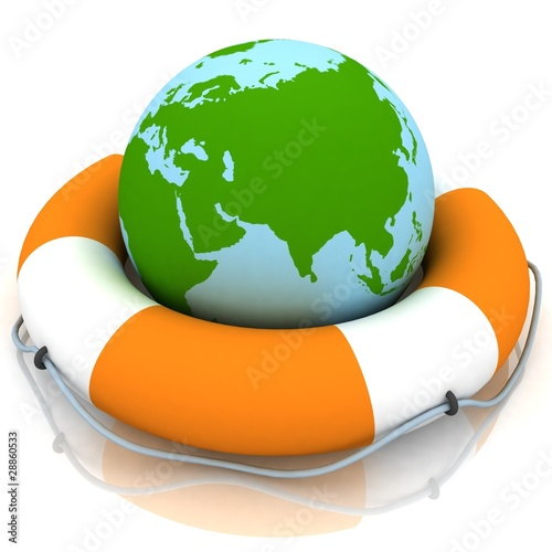 The globe and lifebuoy ring