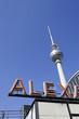 Berlin: Alexanderplatz, Fernsehturm and neon sign
