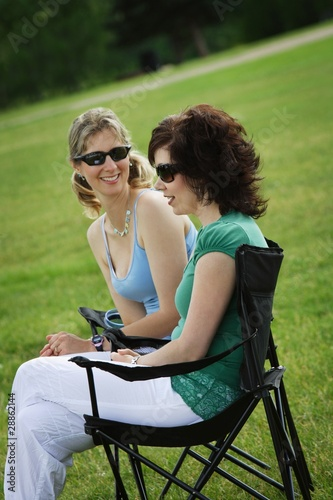 Women Sitting Together