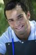 Beau jeune homme garçon viril mâle étudiant avenir sourire