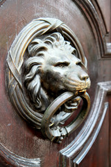 Lion head, old door handle old style