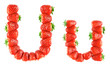 Strawberry alphabet - U