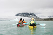 Leinwandbild Motiv kayaking in norway