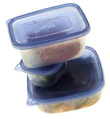 Stack of Leftover Food
