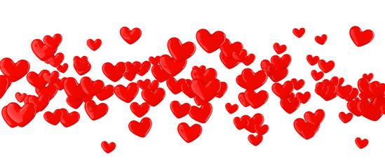 Coeurs sur fond blanc 1