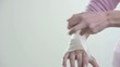 Woman Wrapping Her Hand With Bandage; HD 720, H 264