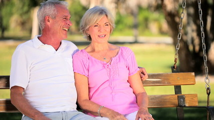 Senior Couple Happy in Each Others Company
