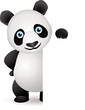 Panda and blank white space