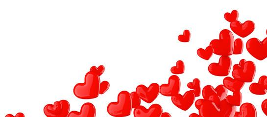 Coeurs sur fond blanc 2