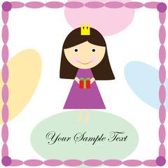 Ð¡ute little angel couple valentine greeting card