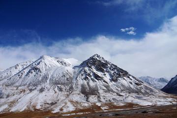Landscape of snow mountains