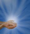 Man emitting healing energy