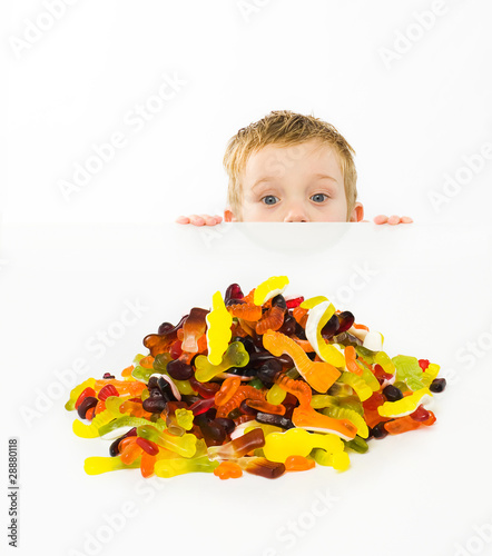 Child looking at candy