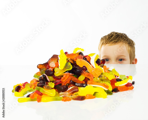 Child looking at sweets