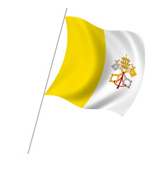 Flag of the Vatican City with pole flag