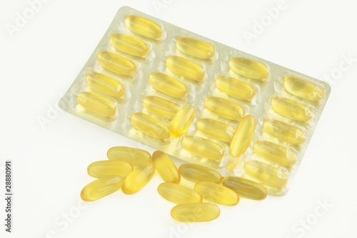 cod-liver oil in yellow capsules