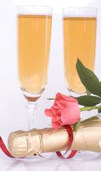 fluttes à champagne - romantique