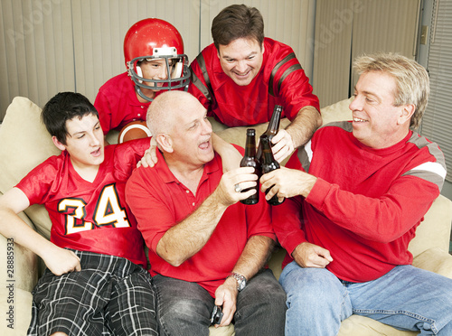 Football Fans Toast Success
