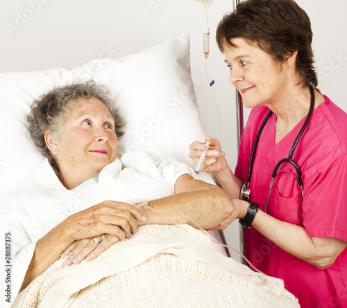 poster of Hospital Nurse Gives Injection