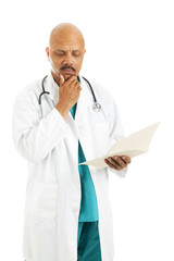Doctor Reviews Patient Chart