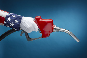 Uncle Sam pumping gas