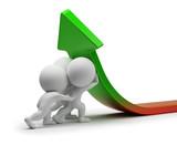 Fototapety 3d small people - statistics improvement