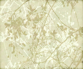 Tangled Flowers and Branches Background