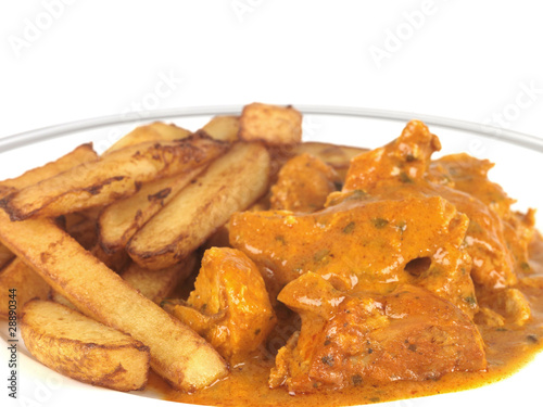 Chicken Tikka Massala with Chips