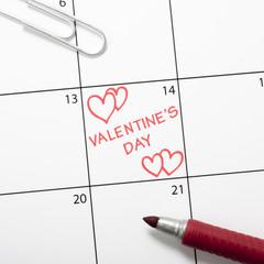 Calendar reminder, Valentine's Day